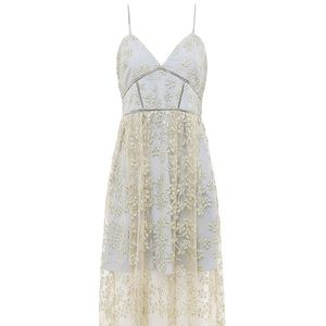 0b61c43cc025 Floral Embroidered Mesh Midi Cocktail Dress